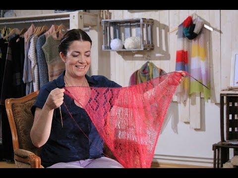 Lochmuster stricken lernen mit Mohair – Lace Anleitung Trailer