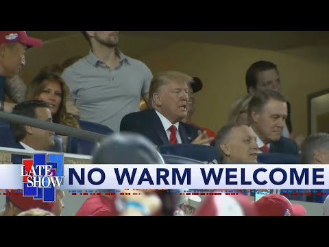 "Crowd Chants ""Lock Him Up"" At Trump During World Series Game 5"
