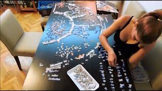 Video Ravensburger Astrology 9000 pieces puzzle - Time lapse MP3, 3GP, MP4, WEBM, AVI, FLV Oktober 2018