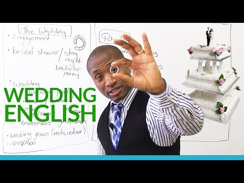 WEDDING & MARRIAGE Vocabulary in English
