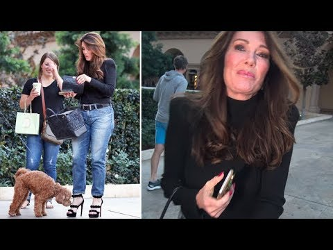 Lisa Vanderpump's Fancy Feet Attract New Furry Friend In Beverly Hills!