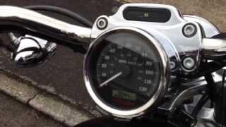 9. Harley Davidson 883 Custom walk around and start up