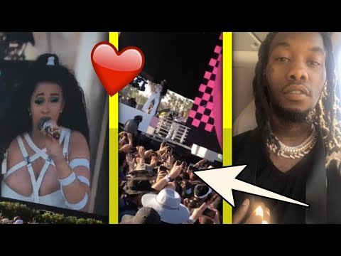 Offset Takes Chopper To Coachella Just To Watch Cardi B Perform