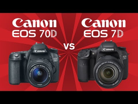 7D - Canon 70D vs Canon 7D. A comparison of the Canon EOS 70D vs the Canon EOS 7D looking at specs including megapixels, ISO Range, touch screen, continuous shoot...