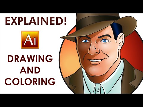 Adobe Illustrator Tutorial - How To Draw And Color A Character