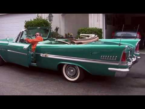 1958 Chrysler New Yorker Convertible, putting the top down