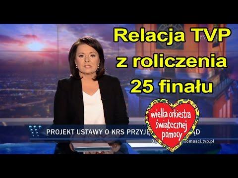 Tak TVP relacjonowało rozliczenie 25 finału WOŚP.