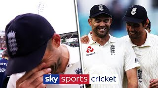 Jimmy Anderson struggles to hold back his tears over Cook retirement