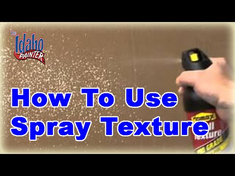 idaho painters - How to use a spray texture can to texture a patch in the wall so it matches. A quick technique to using the can to get the texture to fade and blend into the...