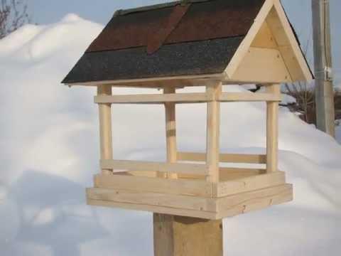Сделать кормушку для птиц своими руками видео