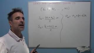 Professor Octavio resolve a questão 23 de matemática do vestibular 2017 da UERJ.