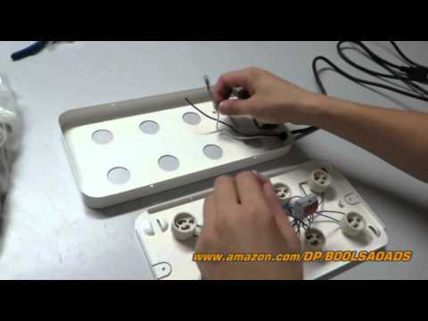 LED Grow light system 2014 latest product for indoor gardening- how to assemble a light kit