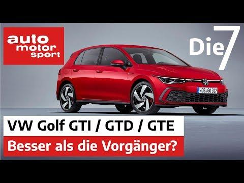 VW Golf GTI, GTD & GTE - Besser als die Vorgänger? 7 Fakten zum Neuen | auto motor und sport