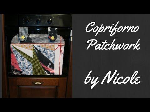 come creare un copriforno con la tecnica del patchwork