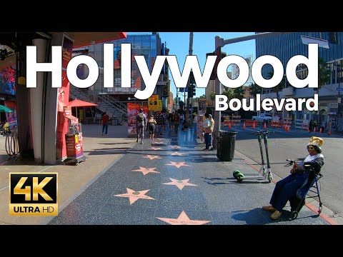 Hollywood Boulevard Walking Tour - Los Angeles, California  (4k Ultra HD 60fps)