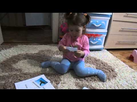 Умничка Ангелина (1 год и 11 мес) проверка по чтению - DomaVideo.Ru