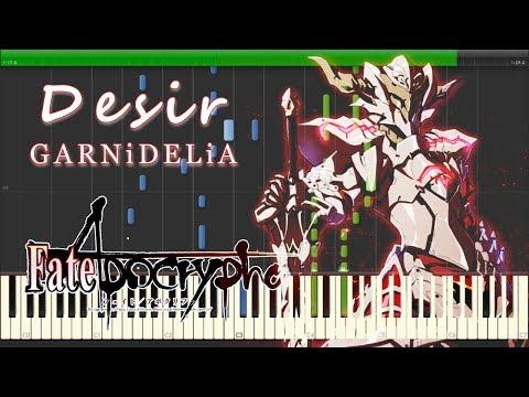 Desir - GARNiDELiA 『Fate/Apocrypha』 ED Piano TV Size 【Sheet Music/楽譜】 (видео)