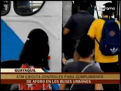 ATM ejecuta controles para cumplimiento de aforo en los buses urbanos
