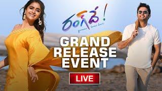 #RangDe – Grand Release Event LIVE   Nithiin, Keerthy Suresh   Devi Sri Prasad