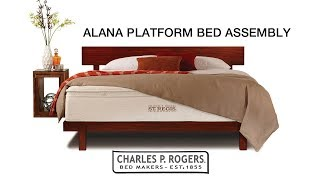 Alana Platform Bed Assembly video