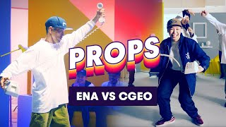 ena vs Cgeo – Dancers battle with an Old School Phone