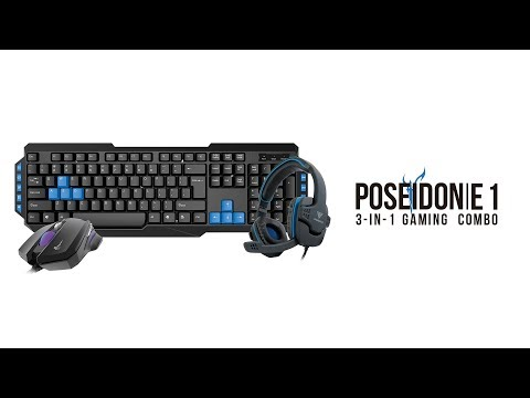 Gamdias POSEIDON E1 3 IN 1 Gaming Combo overview | Star Tech