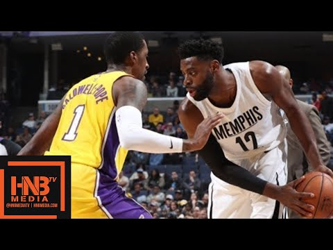 Los Angeles Lakers vs Memphis Grizzlies Full Game Highlights / Jan 15 / 2017-18 NBA Season (видео)