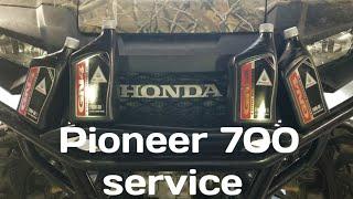 10. Honda pioneer 700 oil change.