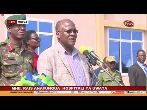 #LIVE MWAKIBETE MBEYA : RAIS Dkt. MAGUFULI ANAFUNGUA HOSPITALI YA UWATA - 02.05.2019