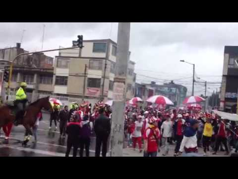 LLEGÓ LA GUARDIA!!!! - La Guardia Albi Roja Sur - Independiente Santa Fe