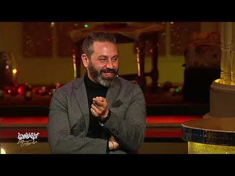 """حازم إمام يترجم لـ""""أبلة فاهيتا"""" مشاهدها في فيلم إيطالي عن المافيا"""