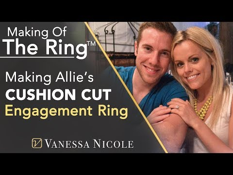 Cushion Cut Double Halo Engagement Rings - Making Allie's Double Halo Engagement Ring