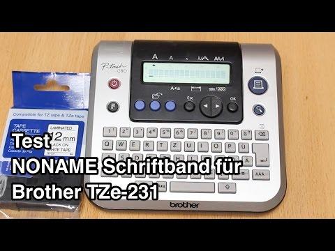 Test NONAME Schriftband für Brother TZe-231 | Tze Schriftband | Brother Schriftband