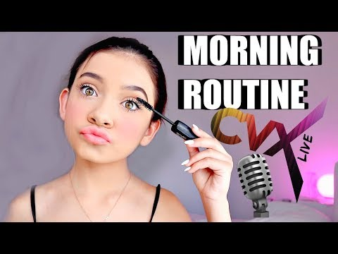 My morning Routine before CVXlive | MY 1st LIVE PERFORMANCE 🎙✨