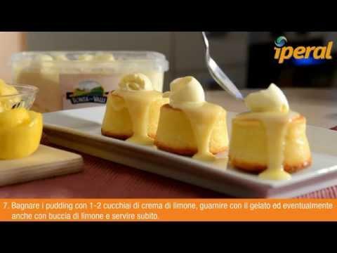 lemon sponge - pudding con gelato alla vaniglia - ricetta