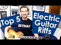 Download Video 5 EASY Electric Guitar Riffs For Beginners Easy Riffs Lesson #2