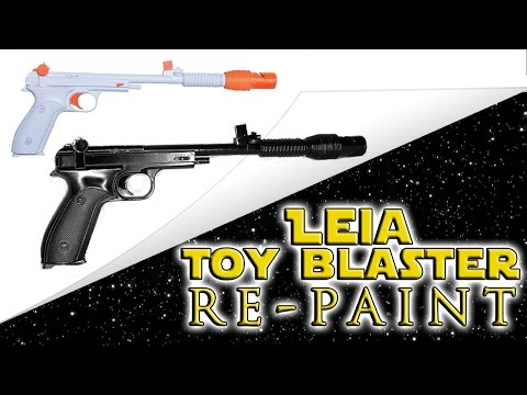 Leia's Blaster: Toy Re-Paint COLLAB with Geeky McFanGirl