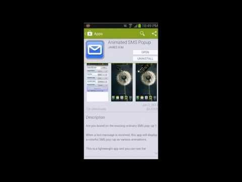 Video of Animated SMS Popup