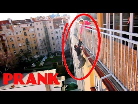 Falling From Balcony PRANK