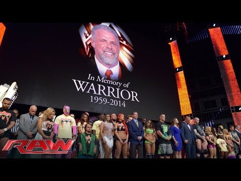 tribute - The WWE Universe honors the memory of WWE Hall of Famer, The Ultimate Warrior.