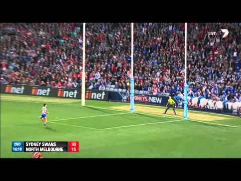 North - All the highlights from Sydney's big prelim win over North Melbourne. For more video, head to http://afl.com.au.
