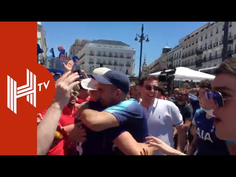 Incredible Scenes As Liverpool & Spurs Fans Party Together In Madrid!