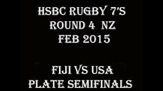 Fiji Vs USA NZ 7's 2015 Plate Semifinals