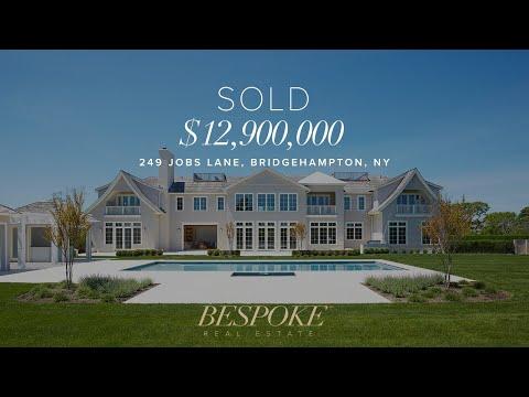 Hamptons Real Estate- 249 Jobs Lane Bridgehampton (видео)