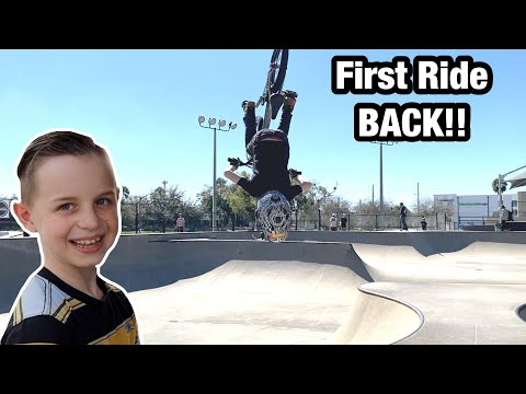 First Time Back at the Skatepark! I Got My Cast OFF!!*