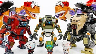 Video We Are Under Attack By Dino King~! Ride On The Robot  - ToyMart TV MP3, 3GP, MP4, WEBM, AVI, FLV Juni 2018