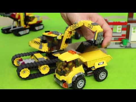 Traktör, Vinç, Ekskavatör ve Yeni  arabalar İş Makineleri - Excavator, Tractor, Fire Truck,