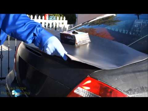 How to install Vinyl Car Wrap on Mercedes Trunk | CLK  Class | W209 in Easy Steps