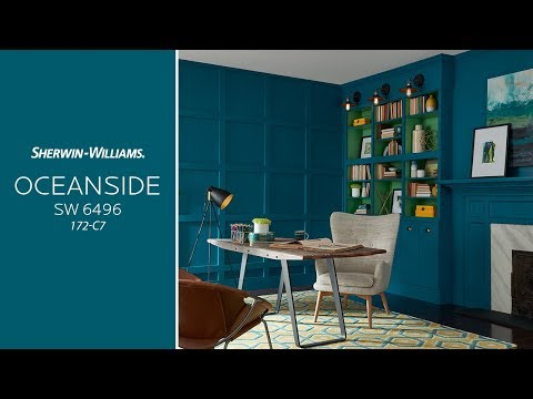 Цвет года 2018 Sherwin-Williams SW 6496 Oceanside