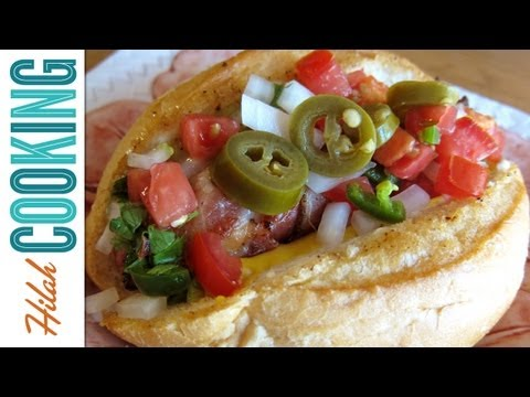hilahcooking - Bacon-wrapped hotdogs, fried and served with salsa, pico de gallo, and jalapenos. These are popular street food in Sonora, Mexico and also along the US-Mexic...